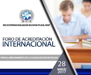 Foro de Acreditación Internacional de la RINEP