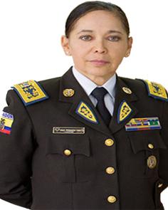 General de Distrito María Fernanda Tamayo Rivera de la Policía Nacional de Ecuador